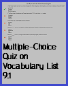 Interactive Multiple-choice Quiz on Terms 9.1