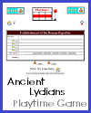 Ancient Lydians Playtime Quiz Game for 2 Teams or 2 Players