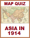 Asia in 1914 Interactive Map Quiz with 8 Questions