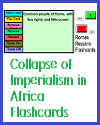 Collapse of Imperialism in Africa Interactive Flashcards; Grades 7-12