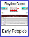 Early Peoples Playtime Quiz Game for 2 Players or 2 Teams