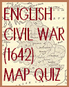 English Civil War (1642) Interactive Map Quiz with 7 Multiple-Choice Questions