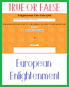 European Enlightenment True or False Test