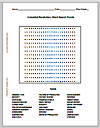 Word Search Puzzle - The Industrial Revolution
