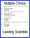 Leading Scientists Multiple-Choice Online Quiz