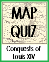 Interactive Map Quiz on the Acquisitions of France's Louis XIV