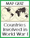 Global Map Quiz on World War I with 6 Multiple-Choice Questions