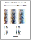 Most Popular Baby Names of 2000 Word Search Puzzle
