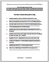 Code Puzzle Worksheet: Rise of Benito Mussolini