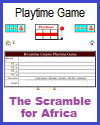 Scramble for Africa Playtime Quiz Game for Two Players or Two Teams