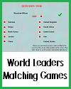 World Leaders Matching Games