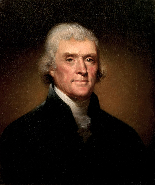 Thomas Jefferson Portrait by Rembrandt Peale (1800)