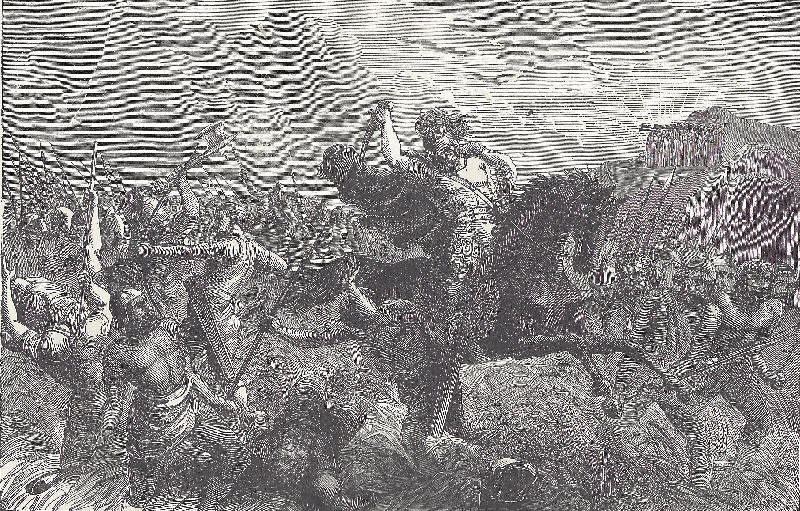 Defeat of the Canaanite kings by Joshua.