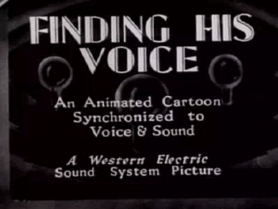 "This 1929 cartoon, ""Finding His Voice,"" was created to explain the creation of sound in motion pictures."