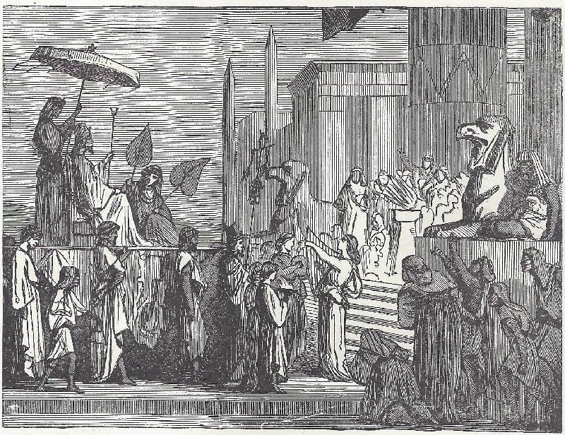 Joseph made ruler over Egypt.
