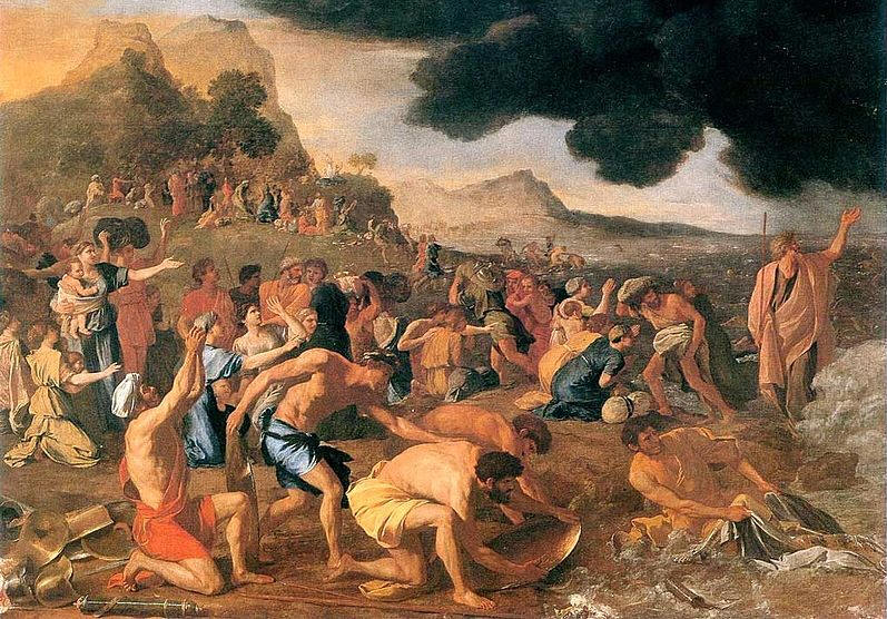 "Nicolas Poussin's ""Crossing of the Red Sea"" (1634)"