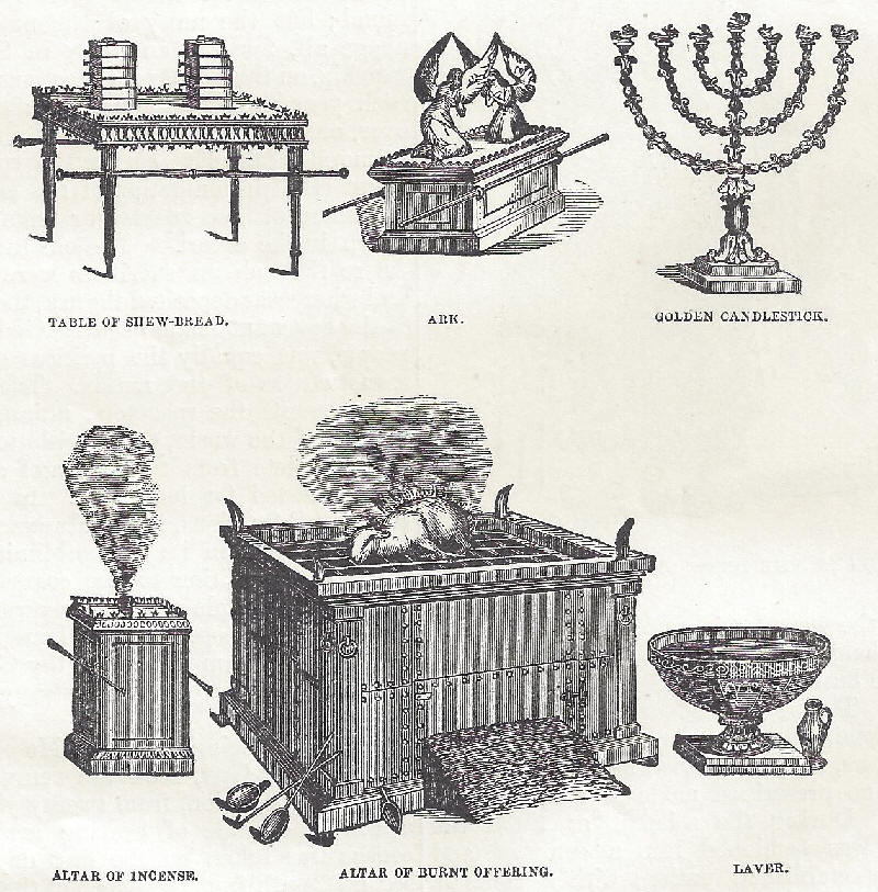 Shew bread, Ark of the Covenant, altar, and more items housed at the Sinai Tabernacle.