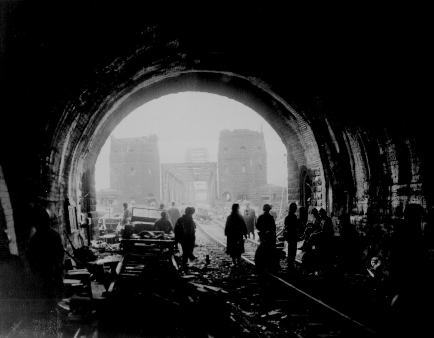 Remagen Bridge in 1945