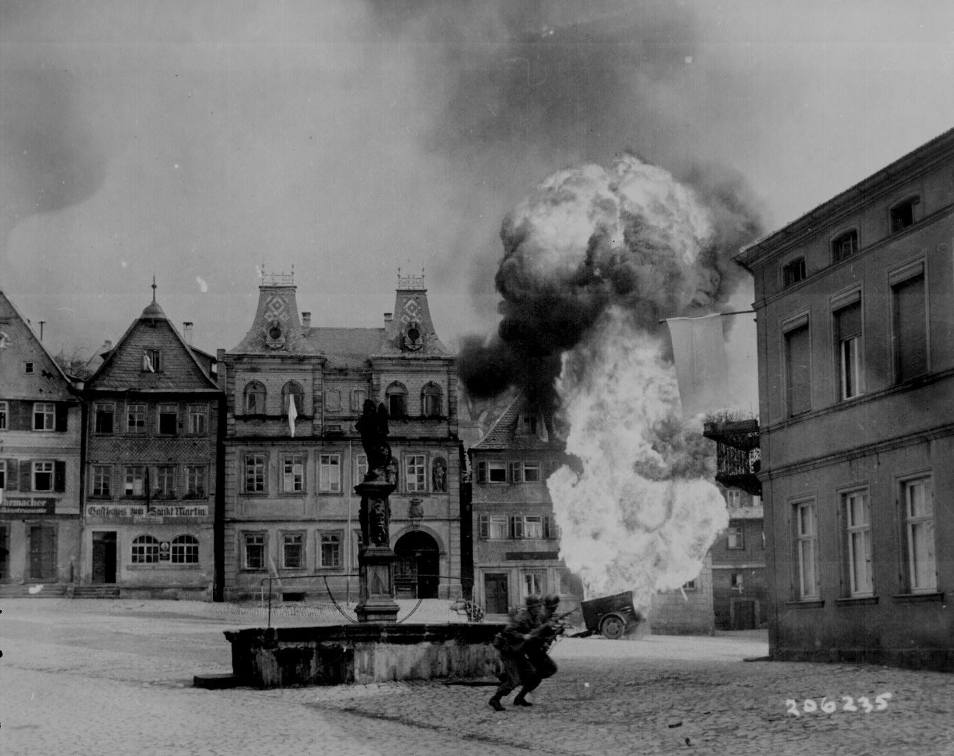 Fighting in Kronach, Germany During World War II