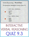 Quiz #3 - Grade 9 Interactive Verbal Reasoning
