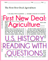 First New Deal: Agriculture Reading with Questions