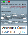 William Tyler Page's The American's Creed (1917) - Cloze Text Reading Test