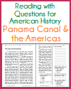 Canal and the Americas Reading with Questions
