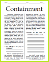 Containment Reading with Questions
