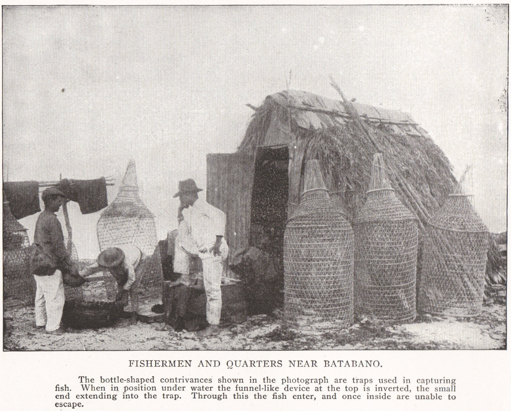 FISHERMEN AND QUARTERS NEAR BATABANO, CUBA (1898)
