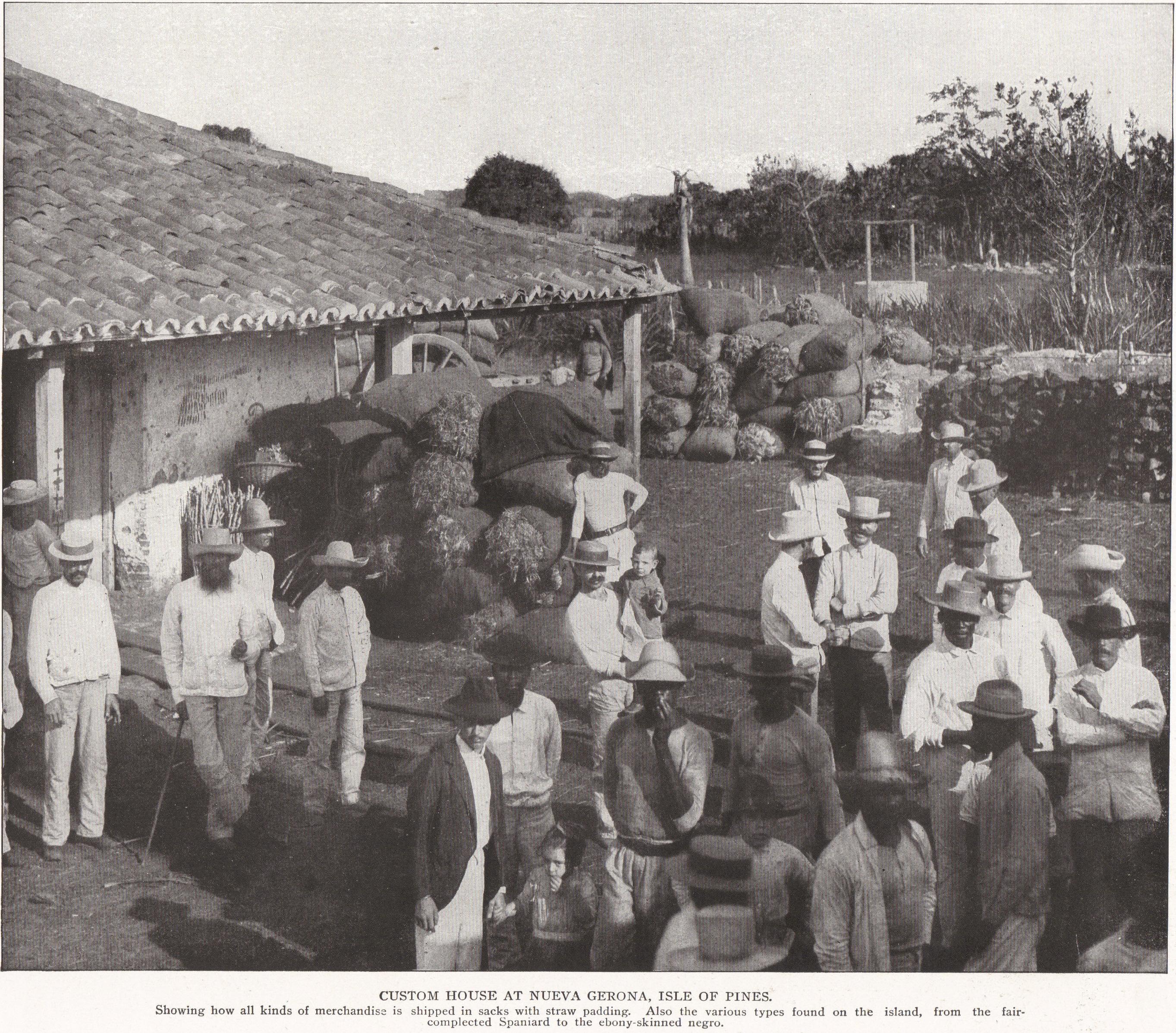 Custom House at Nueva Gerona, Cuba (1898)