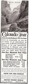 Denver Tourist Bureau Advertisement