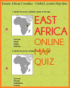 Identify the Countries of Eastern Africa - Multiple-choice interactive map quiz