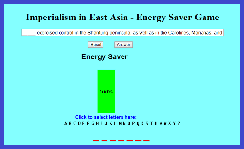 Imperialism in East Asia - Energy Saver Game