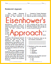 Eisenhower's Approach Reading with Questions
