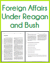 Foreign Affairs Under Reagan and Bush Reading with Questions