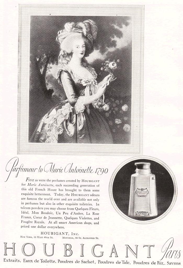 Houbigant of Paris Advertisement, 1922