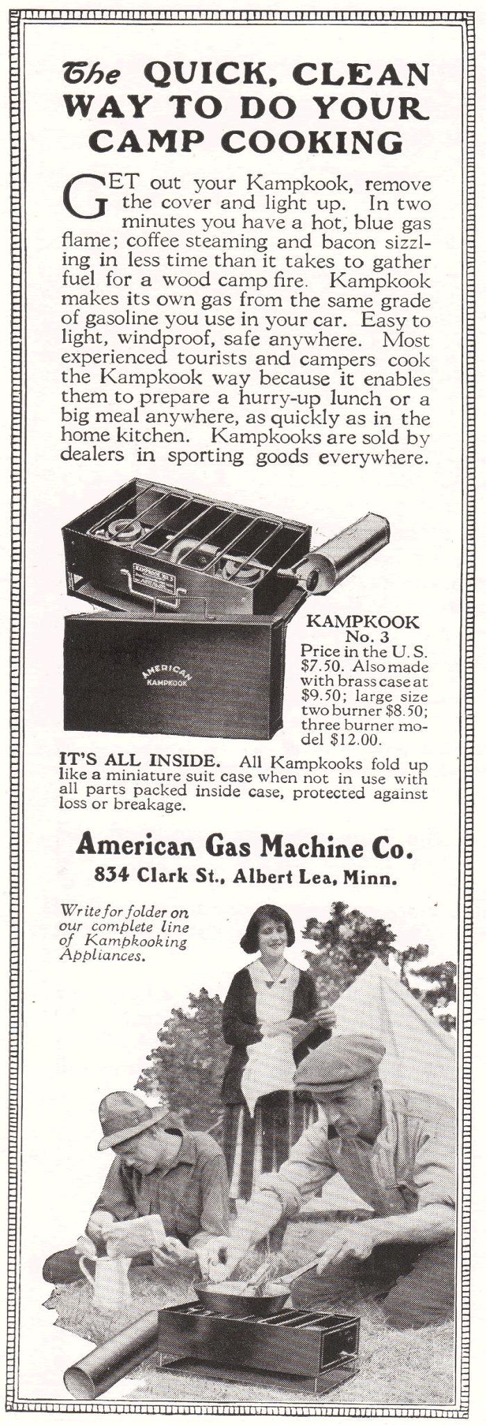 Kampkook No. 3 Antique Ad, 1922
