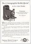 No. 1 Autographic Kodak Special Advertisement