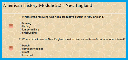 American History Interactive Module 2.2 - New England Colonies