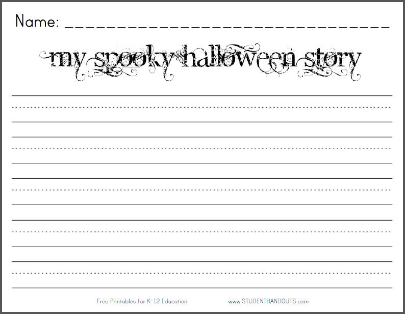 My Spooky Halloween Story Writing Prompt