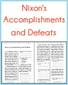 Nixon's Accomplishments and Defeats Reading with Questions