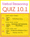 Verbal Reasoning Interactive Quiz 10.1