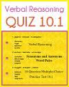 Verbal Reasoning Interactive Quiz 10.1