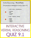 Grade 9 Interactive Verbal Reasoning Quiz #1