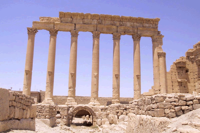 Temple Ruins at Palmyra in Syria