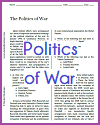 Politics of War Reading with Questions