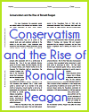 Conservatism and the Rise of Ronald Reagan Reading with Questions