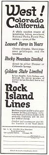 Rock Island Lines 1922 Advertisement
