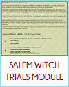 Salem Witch Trials Interactive Module for United States History