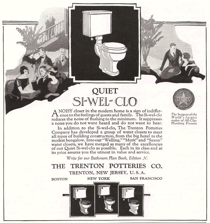 Si-wel-clo Toilet Bowl by Trenton Potteries